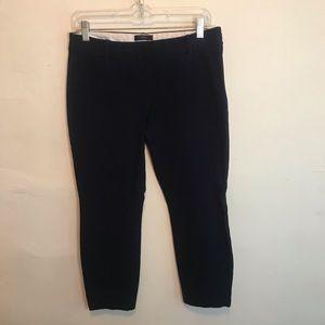 J Crew Minnie Cropped Navy Blue Dress Pants size 6